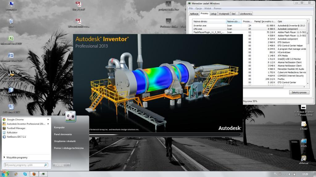 Asus R700VM - [Inventor2013]Problem z uruchomieniem programu