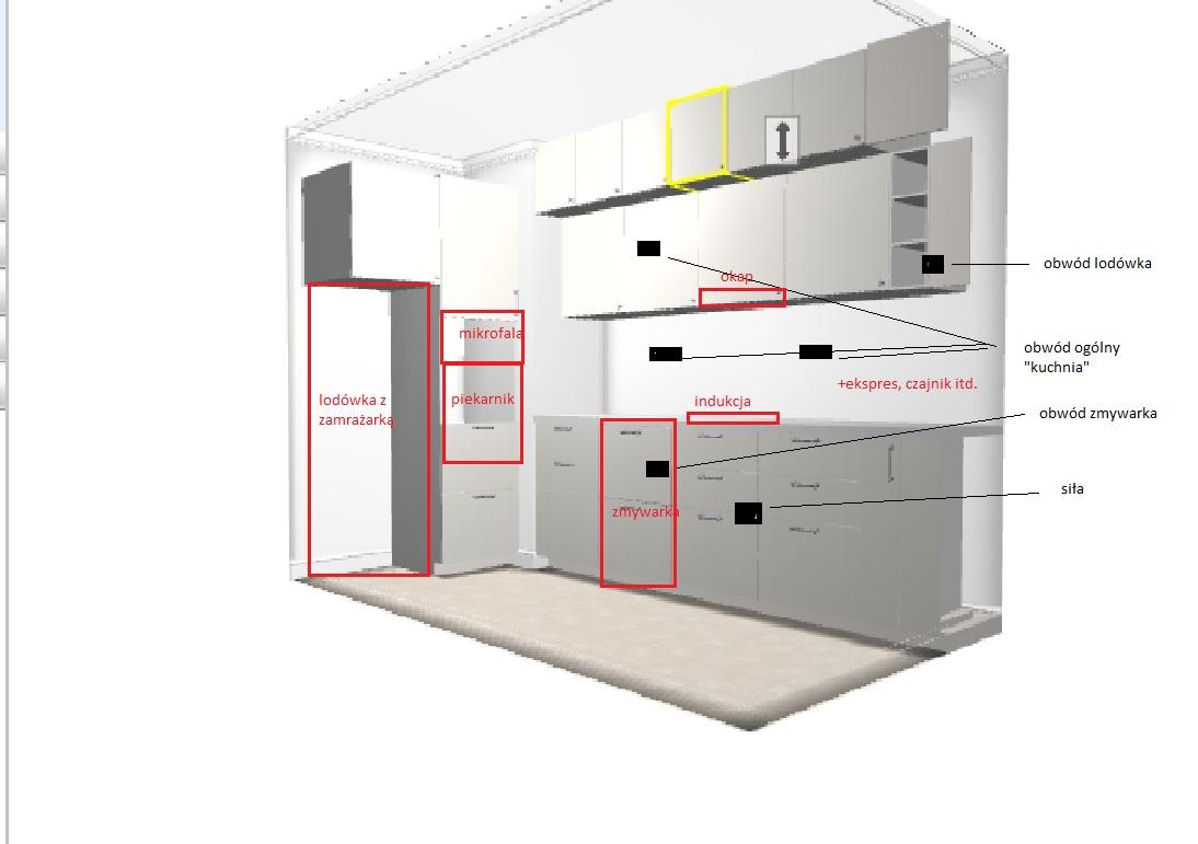 Pod��czenie AGD w kuchni (piekarnik, mikrofala, lod�wka)