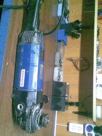 Szlifierka kątowa CELMA PRAg 230BR-jak sciągnąć tryb z wirnika