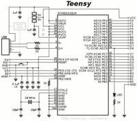 teensy ++ 2.0 Programator nie działa. Czy ktoś pomoże odczytać schemat?