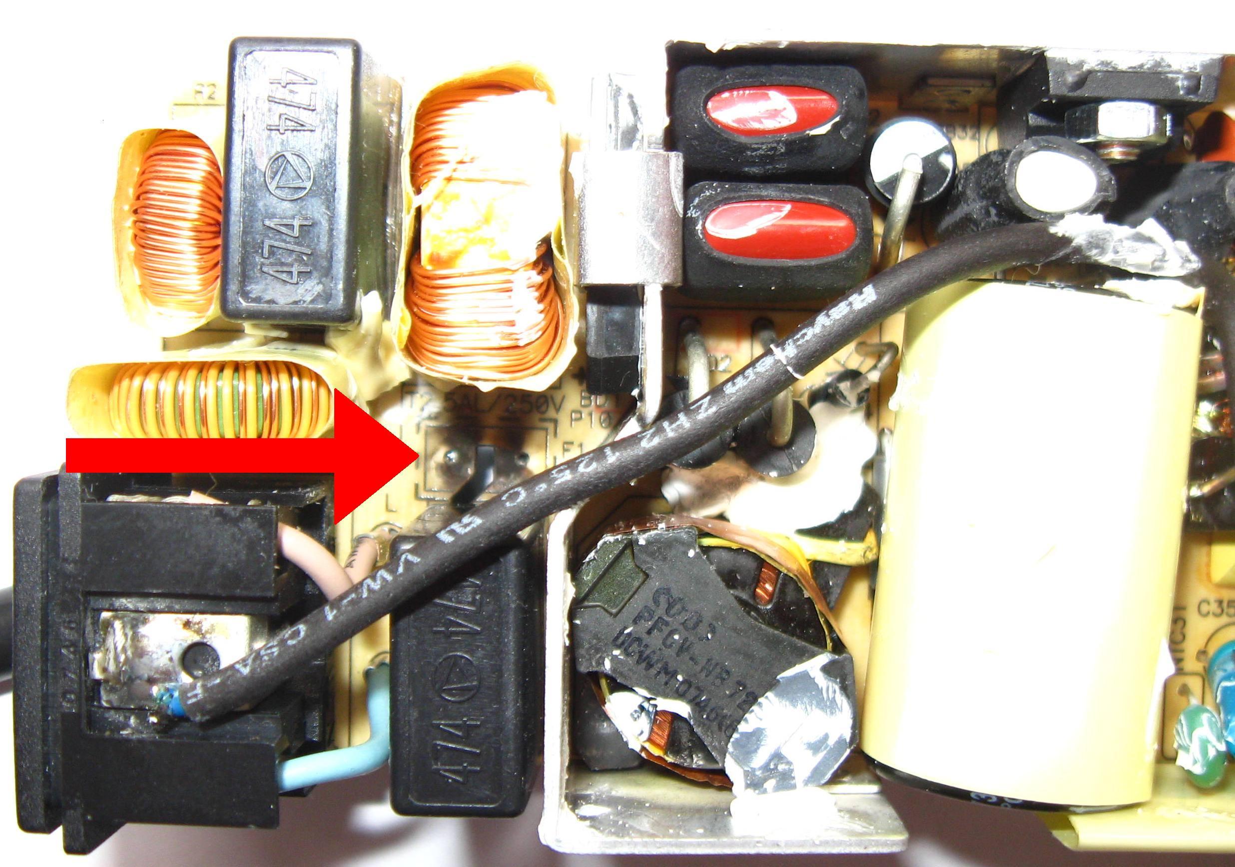 ADP-90sb bb - Spalony bezpiecznik