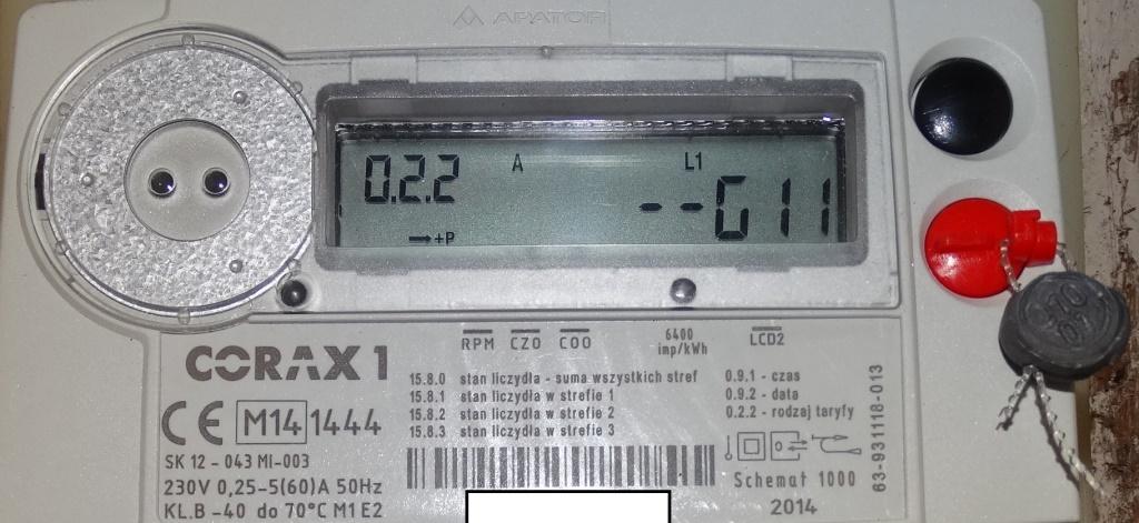 Chwalebne Corax1 - Licznik energii elektrycznej błąd COO - elektroda.pl BZ03
