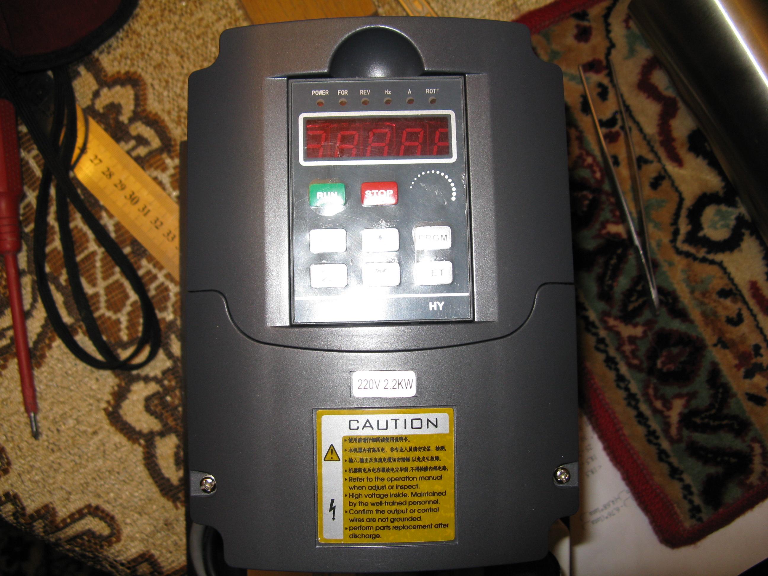 Huanyang inverter 2,2KW - Modyfikacja panelu sterowania