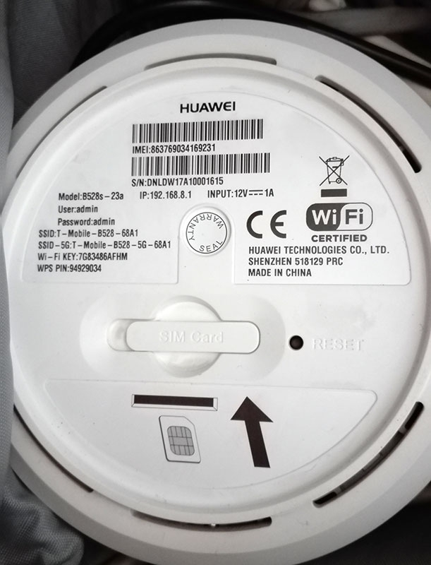 Solved] Huawei B528s-23A - how to enter the configuration?