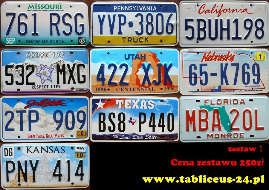 [Sprzedam] Tablice rejestracyjne z USA