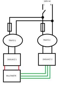 Pod��czanie dw�ch transformator�w pod jeden w��cznik