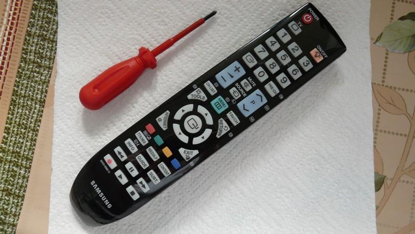 Rozbieranie pilota do TV Samsung