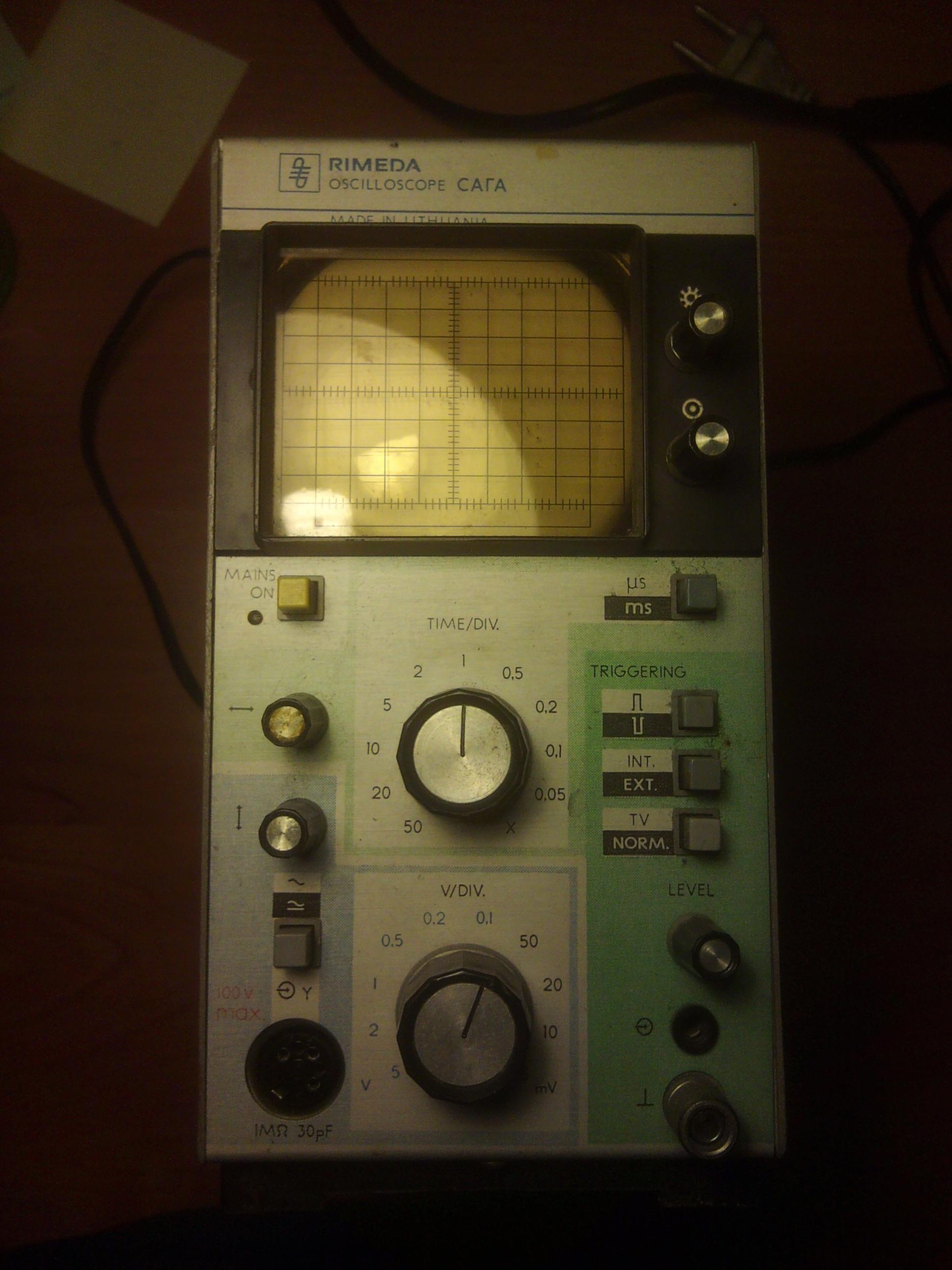 Oscyloskop RIMEDA CAΓA - Jak zrobi� sond�, schemat