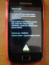 Samsung galaxy mini 2 - Zablokowany telefon po zaznaczeniu b��dniekodu