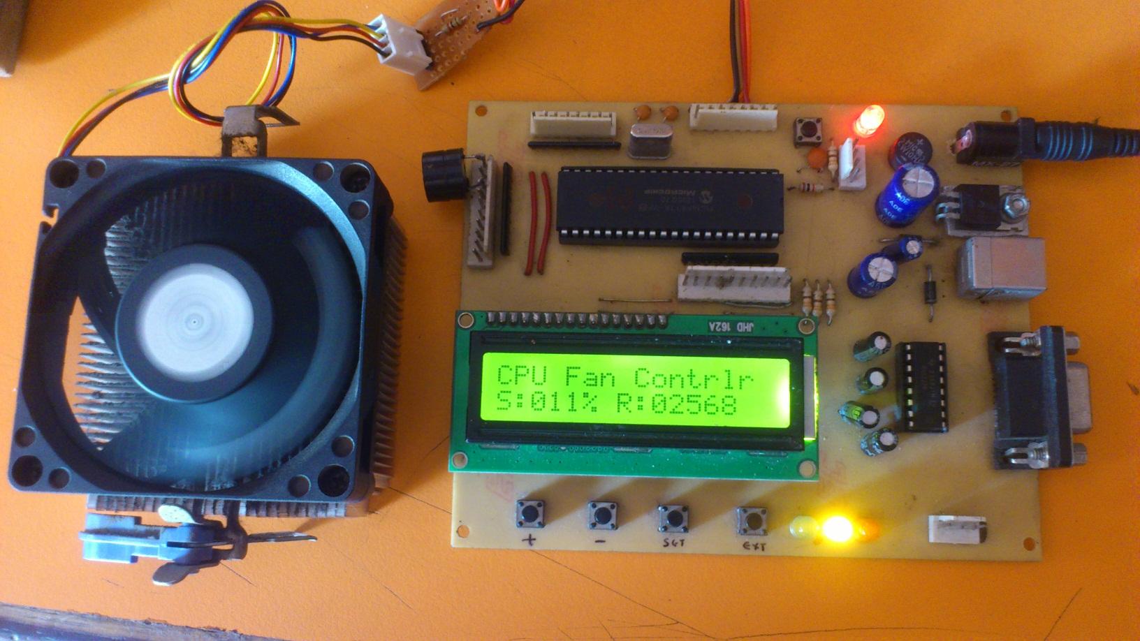 cpu fan controller using pic16f877a
