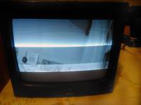 Monitor video Burle TC 1909X - poziome paski na ekranie CRT