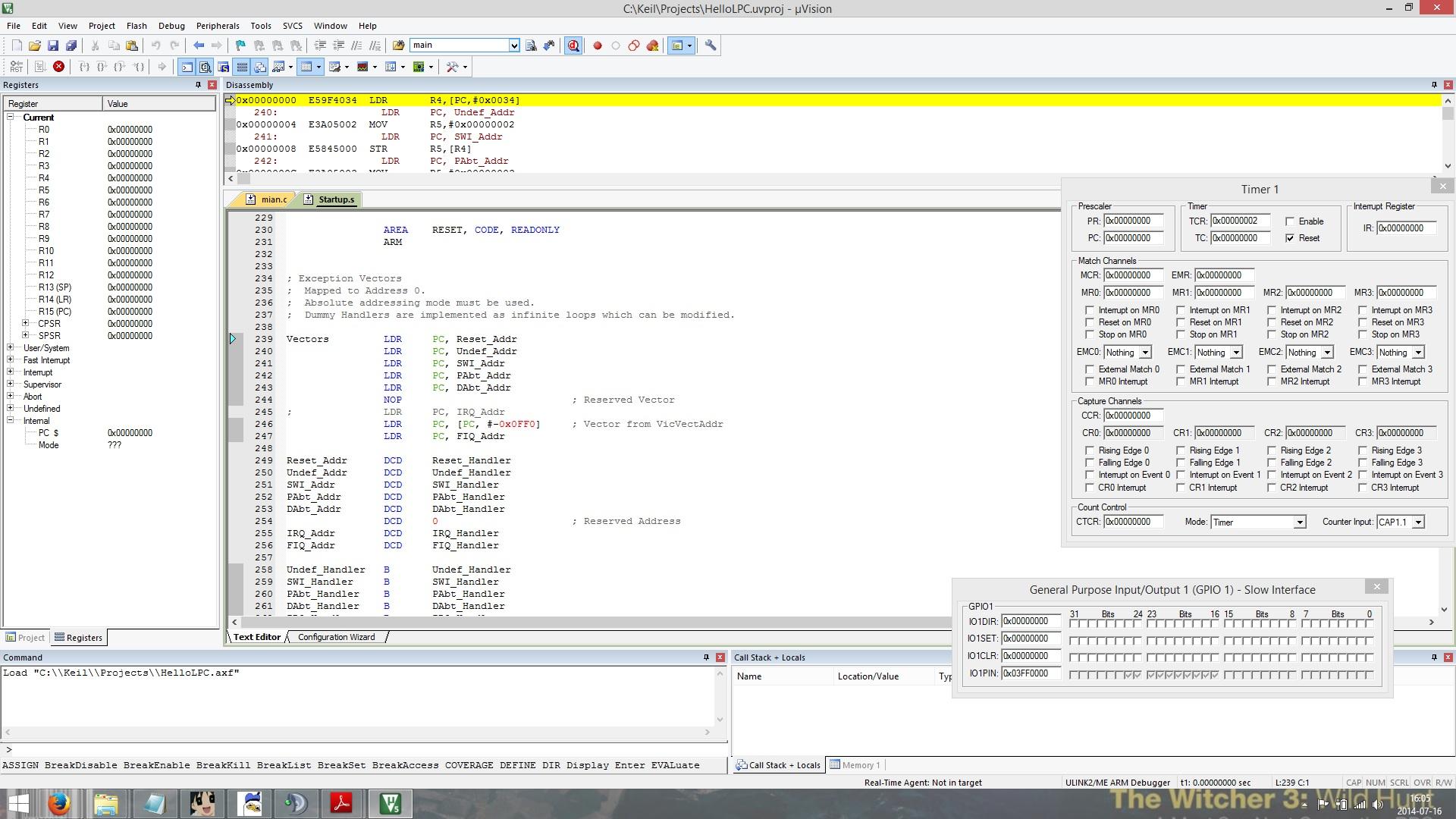 [ULINK2][LPC2138][EVBmmtm] Program nie wchodzi w main.