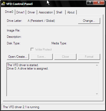 Virtual floppy emulator v.2.1 - tworzenie obrazu dyskietki