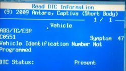 Opel Antara opcom - Świeca kontrolki ABS/TC/ESP