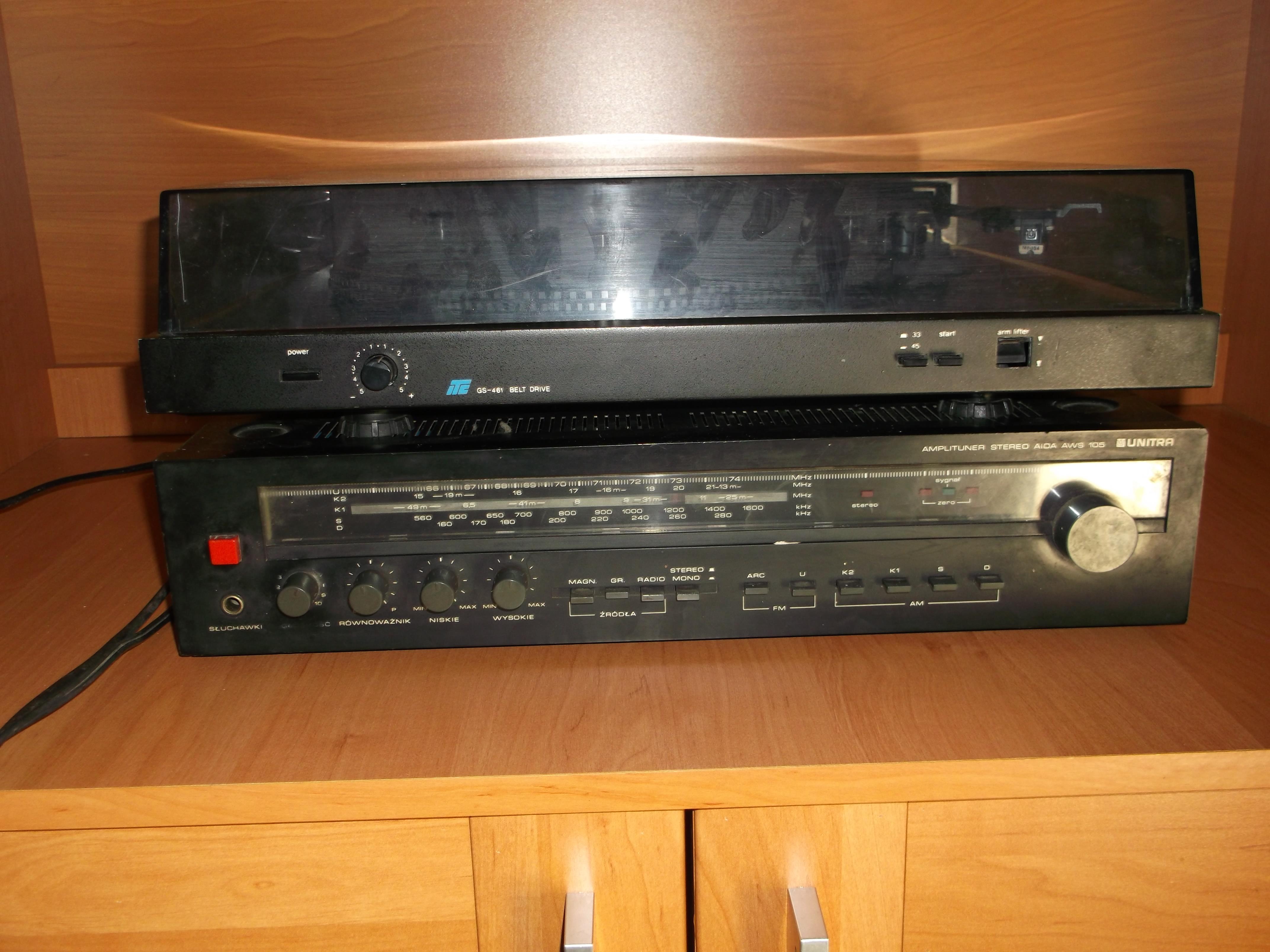 [Sprzedam] Amplituner Aida AWS 105 oraz gramofon GS-461