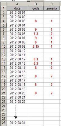 Excel kopiowanie danych - kopiowanie konkretnych danych pomiędzy arkuszami