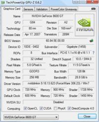 Podkr�canie 8600gt gigabyte