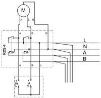 Sterowanie roletami - schemat elementu RCS-x