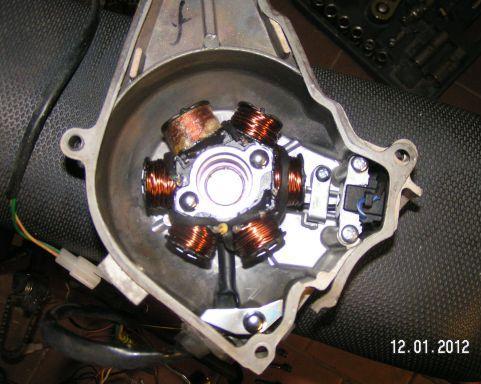 Instalacja elektryczna w motorku z silnikiem 1P39FMB