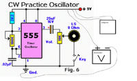 Generator akustyczny na NE555 do klucza telegraficznrgo