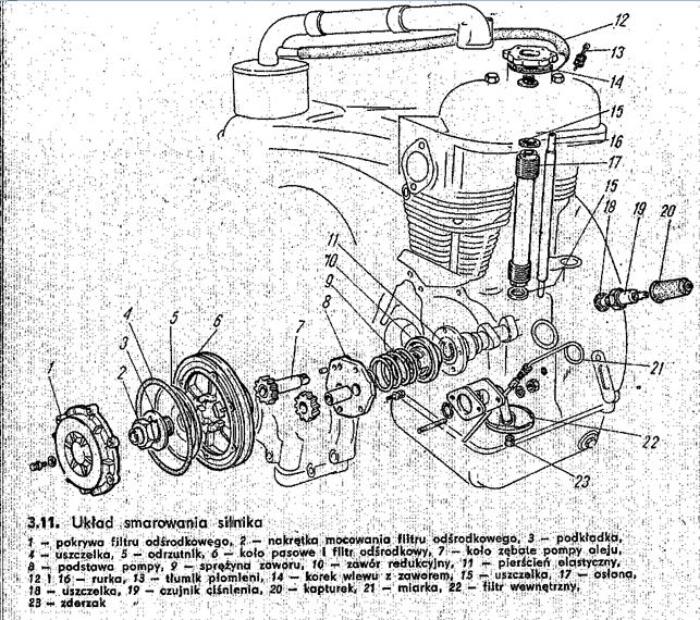 Fiat 126P zasysa olej do filtra powietrza
