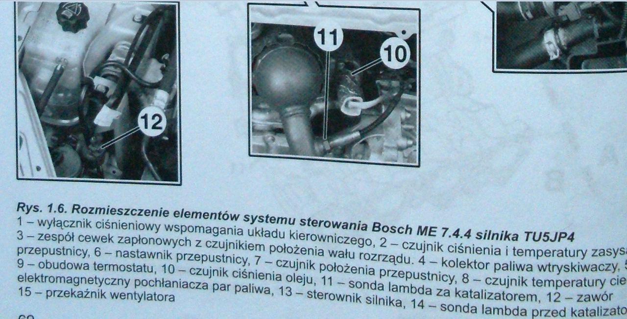 Citroen/Xsara/1.6 16V 2001 - Rozpoznanie czujnika