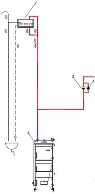 Przeróbka podłączenia naczynia przelewowego (układ otwarty)