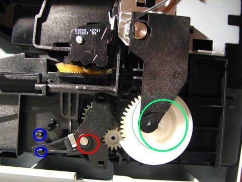 """Hp C5280 komunikat """"Otw�rz dzwiczki, usu� blokad� karet"""