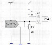 [ATmega8][ADS1100][Pomiar 9V na wejściu różnicowym IN+ IN-]