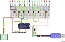 Diody LED sterowane przez wifi + czujnik światła i ruchu - NodeMCU + ESP8266