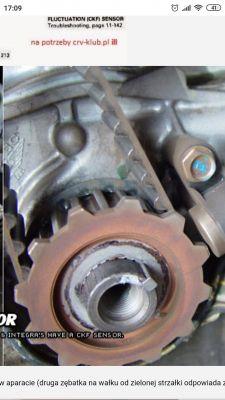 Honda HR-V 1,6 2003 D16W1 - koło rozrządu nie odpowiednie