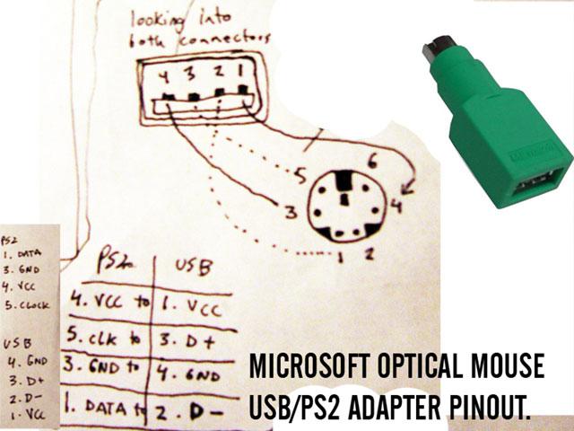 Схема переходника для мыши ps