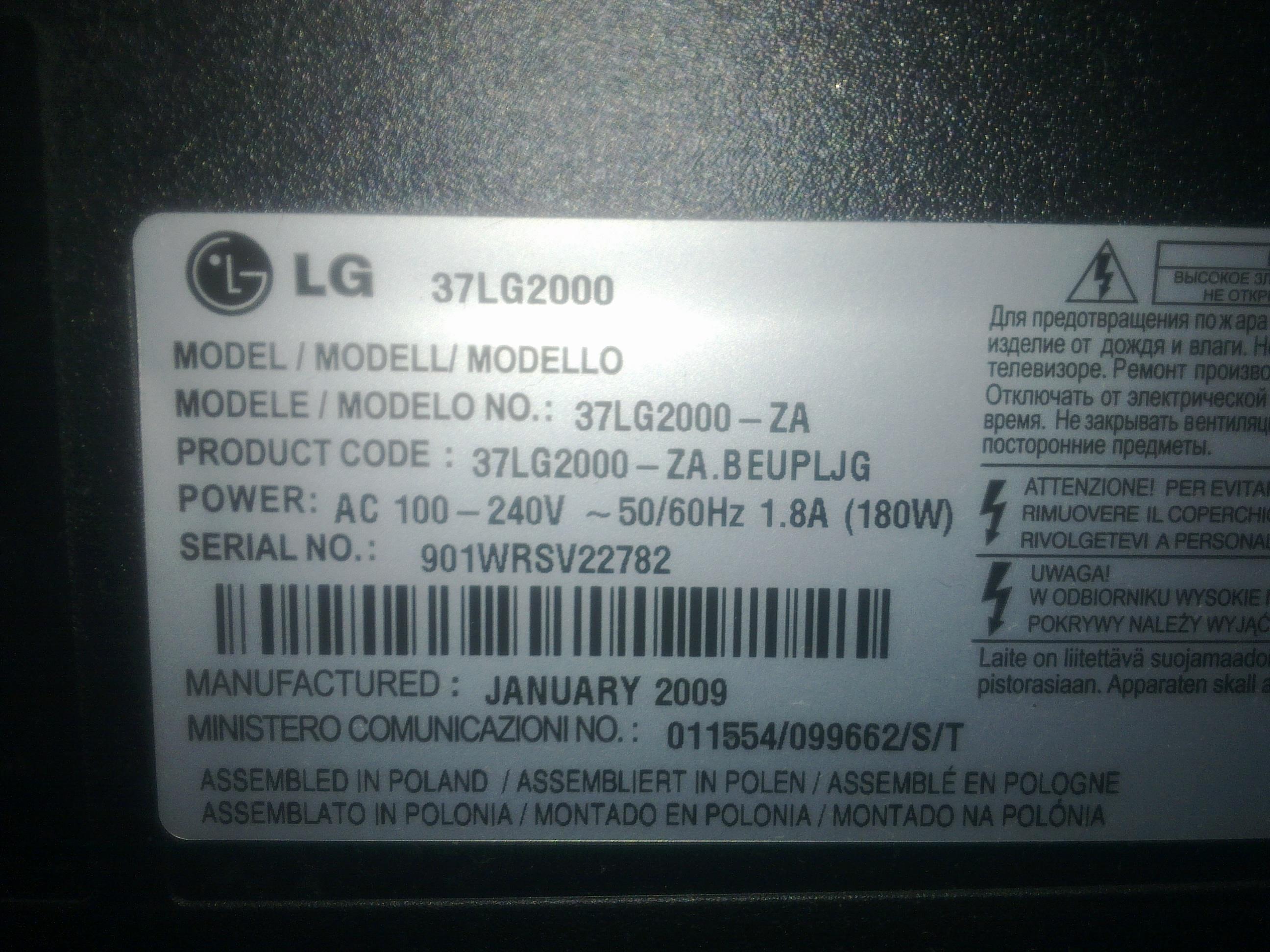 [Zlec�] Zlec� naprawe  telewizora LG372000 Matryca + jej wymiana