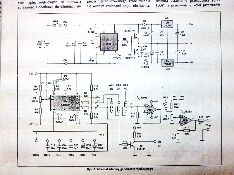 Generator funkcji na uk�adzie ICL8038
