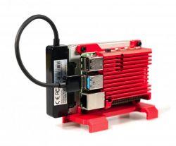 TerraPi - modułowa pionowa/pozioma obudowa dla Raspberry Pi, 2 dysków SSD, DIN