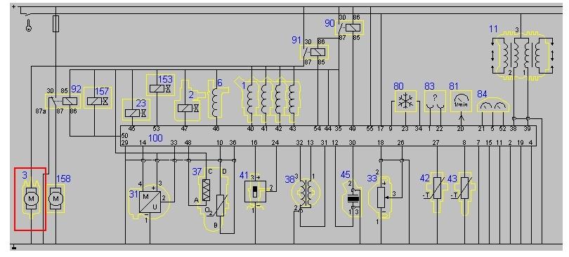 opel vectra B 1996r - Potrzebny schemat instalacji elektrycznej pompy paliwowej