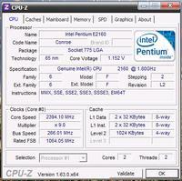 Podkręcenie procesora -Intel E2160