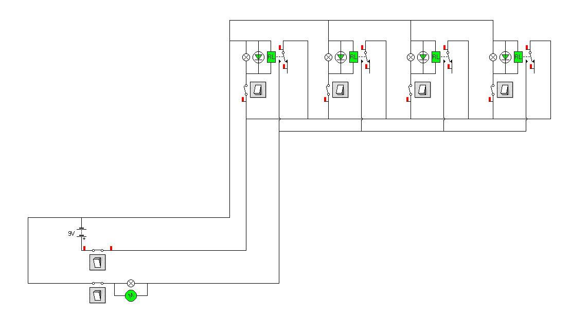 Dodatkowe wykorzystanie halogen�w z czujnikiem ruchu jako alarm.