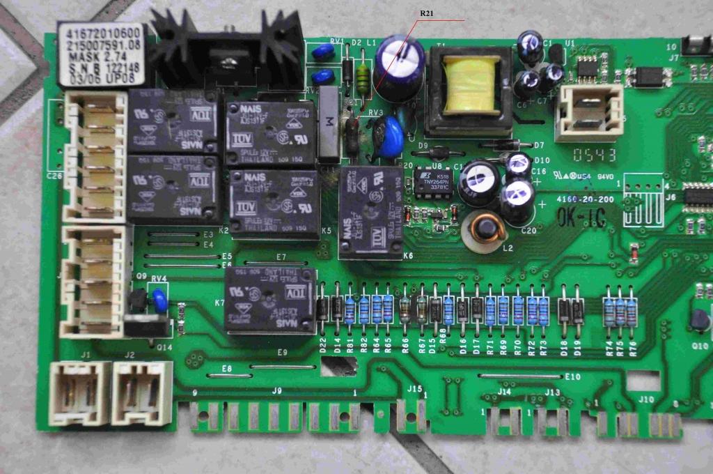 Pralka Indesit WISE87 uszkodzony modu� foto