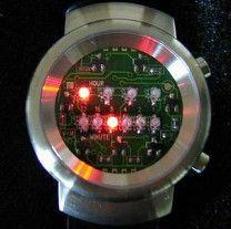 Binarny zegarek na ringu ws2812 z pomiarem temperatury