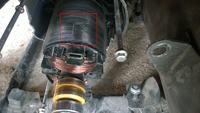 Agregat Thunder Germany 3,7 kw - Spalone uzwojenia na stojanie