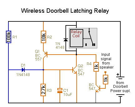 Solved Wireless Doorbell To Operate And Latch A Relay