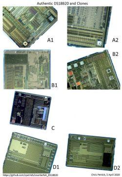 Większość czujników DS18B20 sprzedawanych w Internecie to podróbki