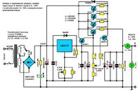 Zasilacz regulowany (darlington power) na LM317 10A 1.2..37V