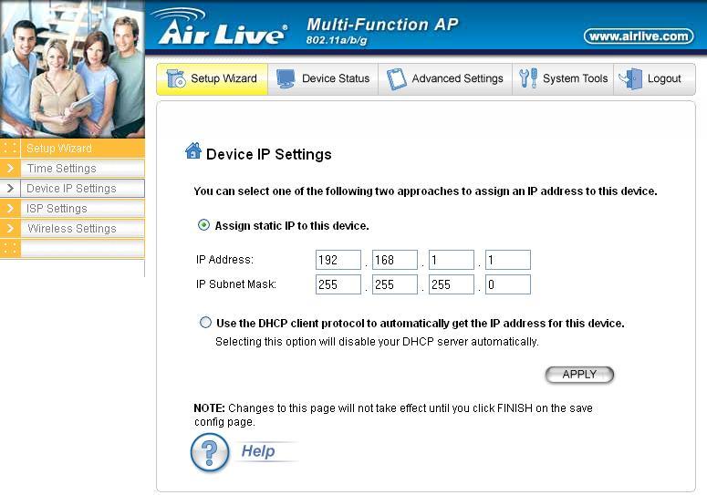 Internet radiowy - konfiguracja Routera AirLive v5000ap V3