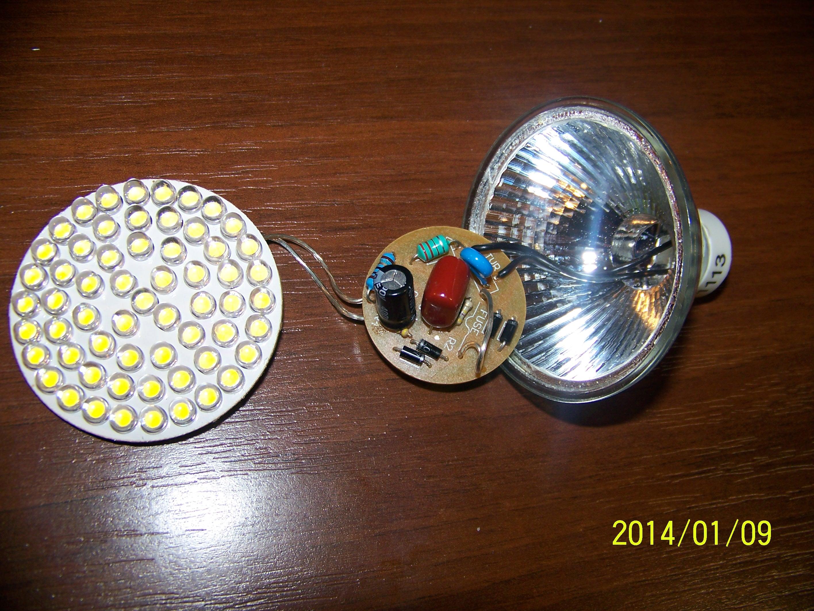 Naprawa �ar�wki LED GU10 prod. Hikari