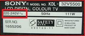 Sony Bravia KDL-32L5000 prze��cznik zmiany napi�cia??