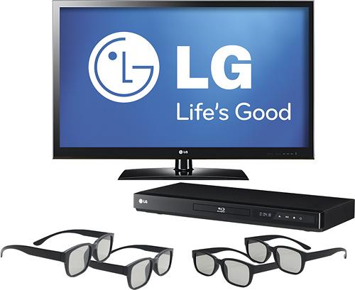 47-calowy telewizor LG Cinema 3D 47LW5300 w zestawie z odtwarzaczem i okularami