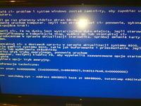 Reset komputera, niebieski ekran.