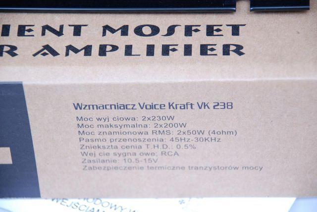 Wzmacniacz samochodowy firmy Voice kraft 400w